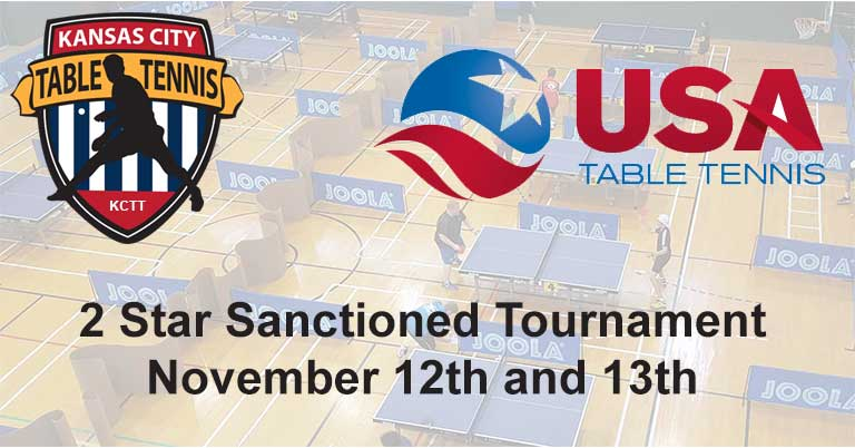Kansas City Table Tennis Fall 2016 Tournament