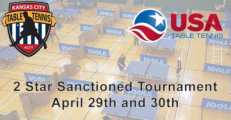 Kansas City Table Tennis 2017 Spring Open Tournament