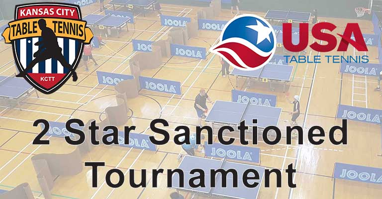 Kansas City Table Tennis USATT Sanctioned Tournament