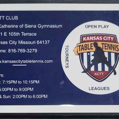 Kansas City Table Tennis Schedule Magnet